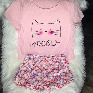e3a4931b5b Shein Meow Cat Pajamas Shorts Set NEW with Tags M
